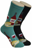 Wine & Cheese Time Socks  FC-189