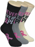 Never Give Up Hope Cancer Socks   FC-207