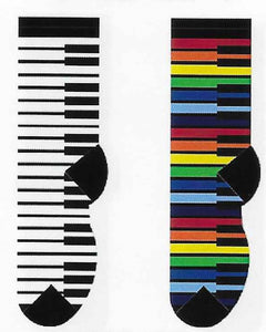 Colorful Piano Keys Socks  FC-81