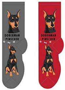 Doberman Pinscher Canine Collection Socks  FCC-13