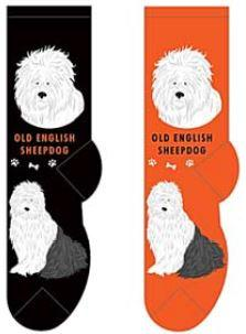 Old English Sheepdog Canine Collection Socks  FCC-14