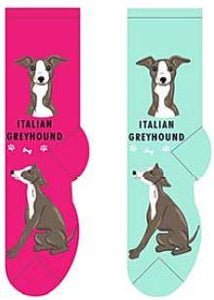 Italian Greyhound Canine Collection Socks  FCC-22