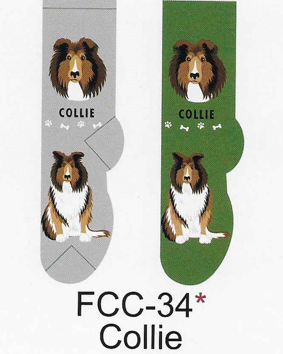 Collie Canine Collection Socks   FCC-34