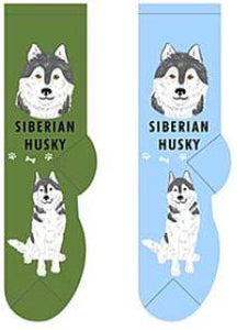Siberian Husky Canine Collection Socks  FCC-37