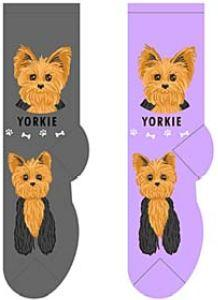Yorkie Canine Collection Socks  FCC-41