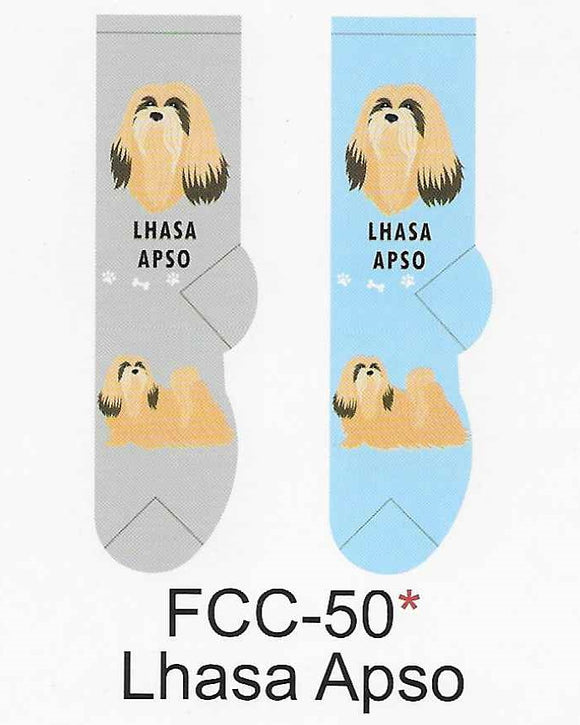 Lhasa Apso Canine Collection Socks   FCC-50