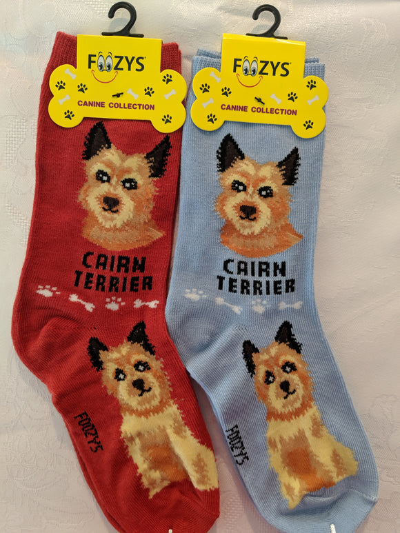Cairn Terrier Canine Collection Socks   FCC-58