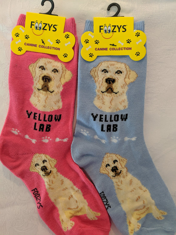 Labrador - Yellow Lab Canine Collection Socks  FCC-63
