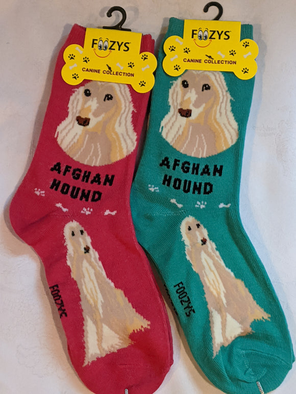 Afghan Hound Canine Collection Socks   FCC-68