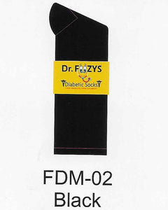 Diabetic Men's Socks FDM-02 BLACK