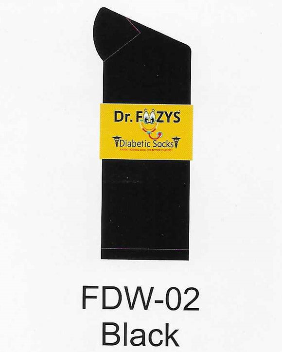 Diabetic Women's Socks FDW-02 BLACK