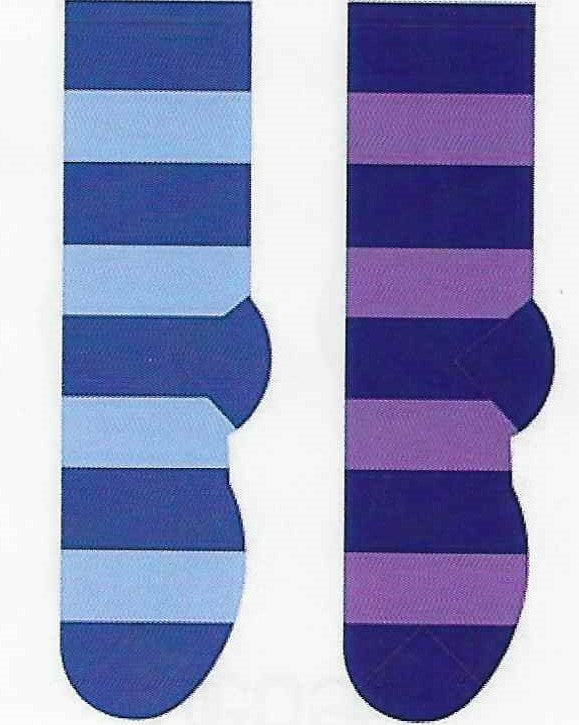 Fluffy Winter Stripes Collection Socks  FF-03