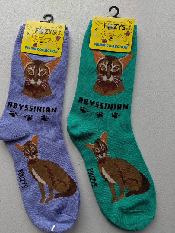 Abyssinian Feline Collection Socks   FFC-01