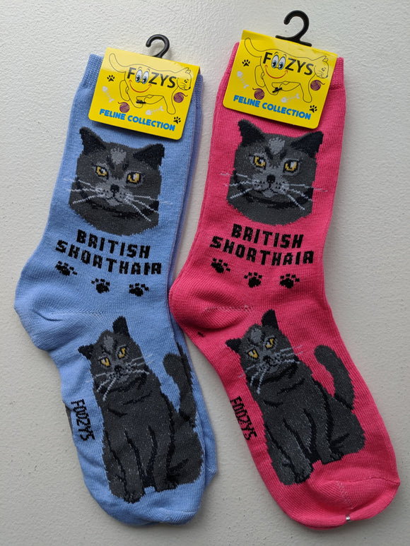 British Shorthair Feline Collection Socks   FFC-05