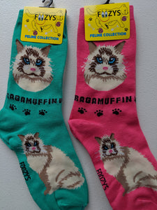 Ragamuffin Feline Collection Socks   FFC-15