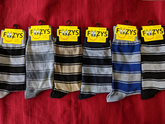 Thick Stripes 1 Fancy Men's Collection Dress Socks  FFM-05