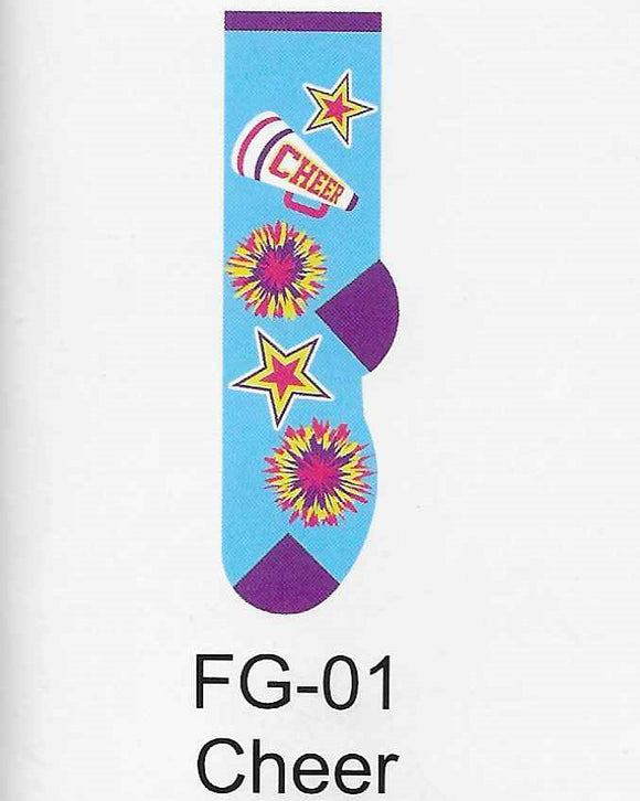 Cheerleading Kids Socks  FG-01