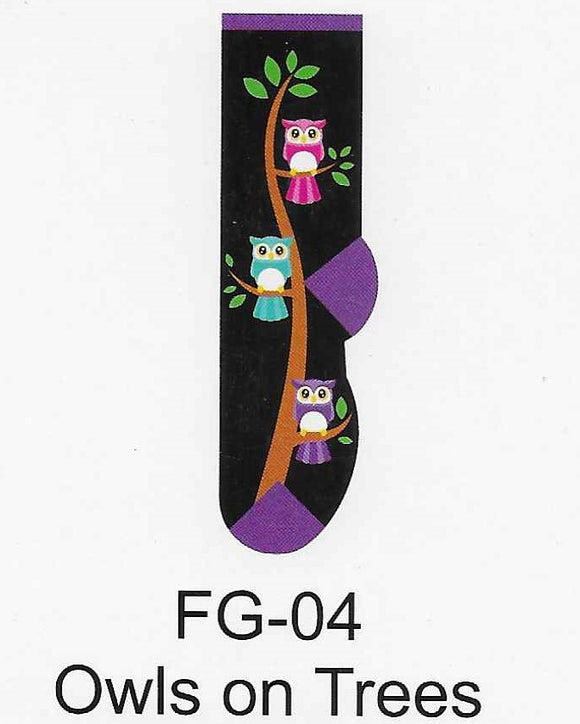 Owls on Trees Kids Socks  FG-04