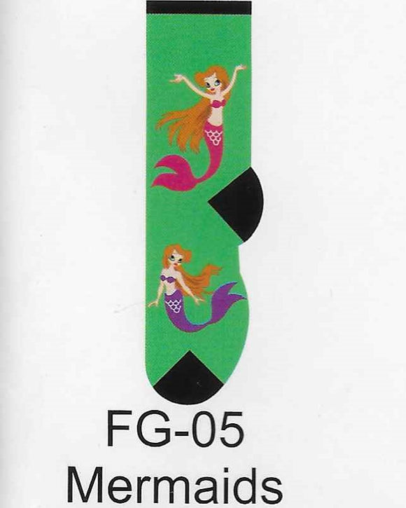 Mermaids Kids Socks FG-05