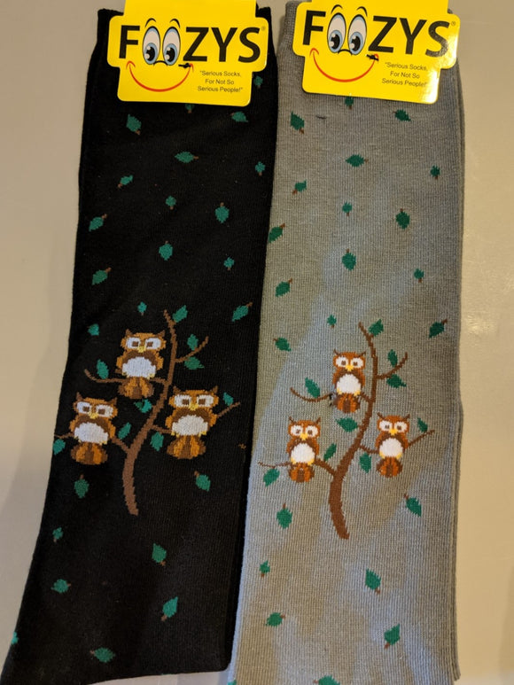 Owl Family Tree KNEE HIGH Socks  FK-03