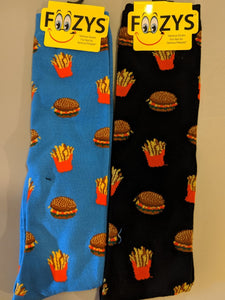 Hamburger & Fries KNEE HIGH Socks  FK-04