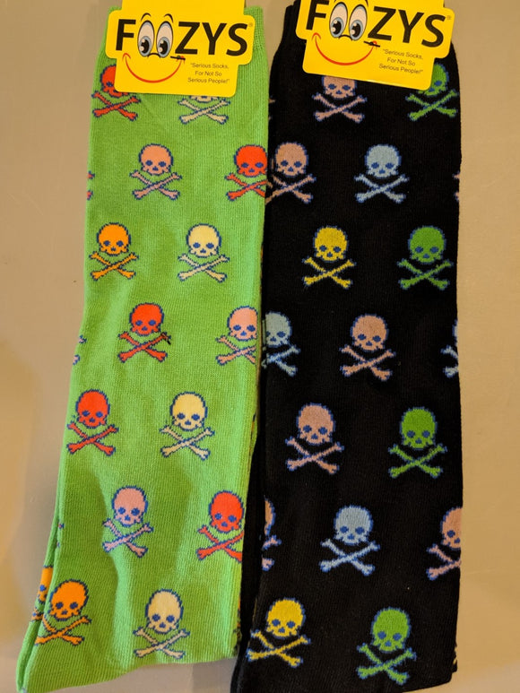 Colorful Skulls & Crossbones KNEE HIGH Socks  FK-27