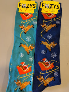 Santa & Reindeer KNEE HIGH Socks  FK-32