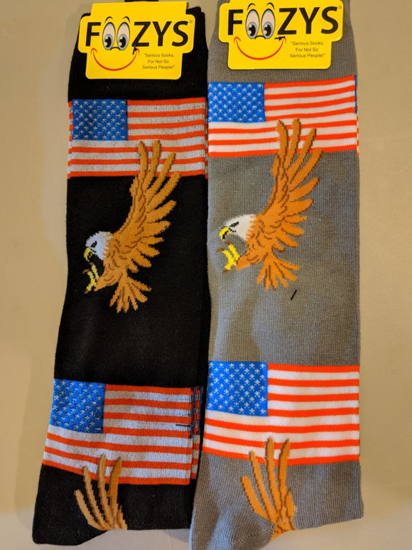 American Flag & Eagle KNEE HIGH Socks   FK-35