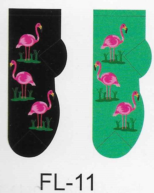 Flamingos No Show Socks  FL-11
