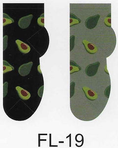 Avocados No Show Socks   FL-19