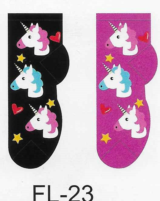 Unicorns No Show Socks  FL-23