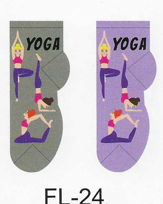 Yoga Time No Show Socks  FL-24