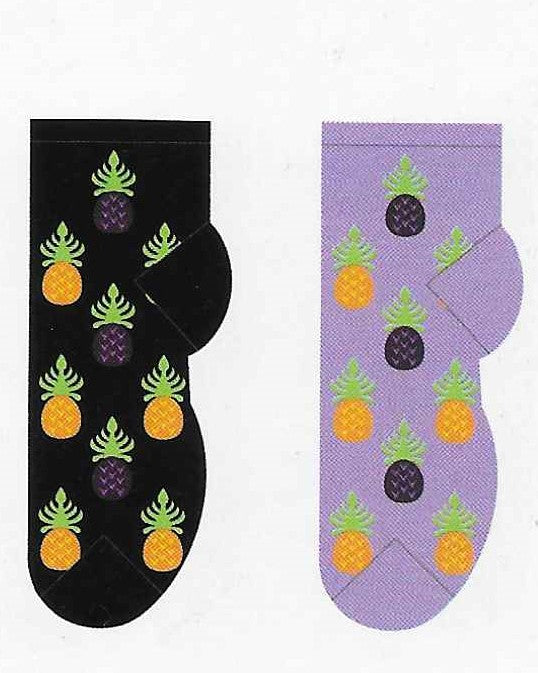 Pineapples No Show Socks   FL-25
