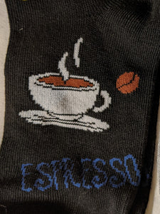 Hot Coffee Espresso Latte Cappuccino No Show Socks   FL-26
