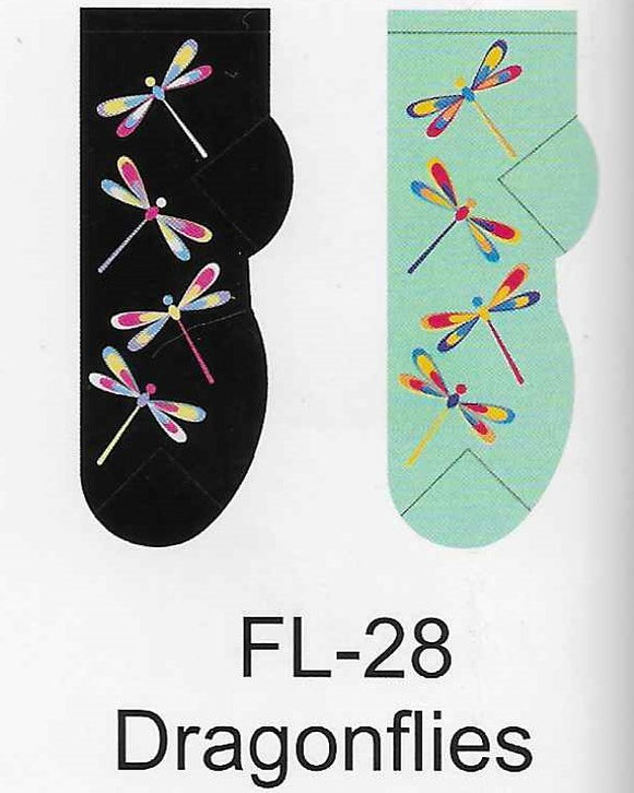 Dragonflies No Show Socks  FL-28
