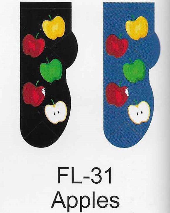 Apples No Show Socks   FL-31