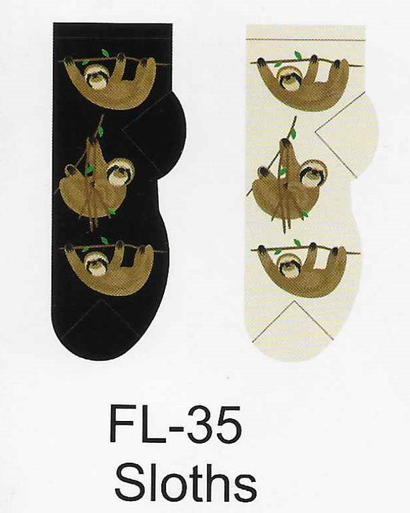 Sloths No Show Socks  FL-35