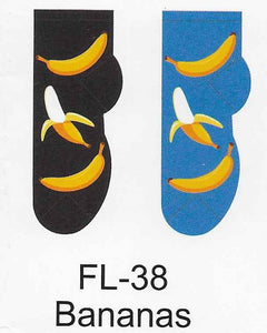 Bananas No Show Socks   FL-38