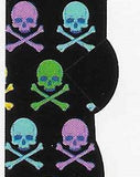 Colorful Skulls & Crossbones No Show Socks  FL-41