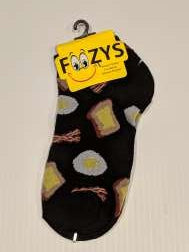 Bacon & Eggs No Show Socks   FL-07