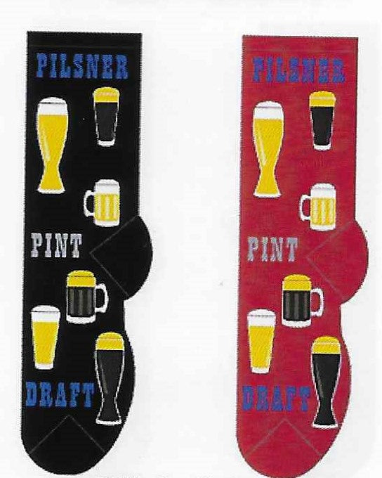Beer Time Pilsner Pint Draft Men's Socks   FM-09