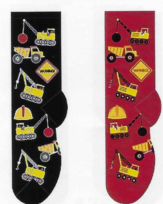 Construction Vehicles Men's Socks  FM-13
