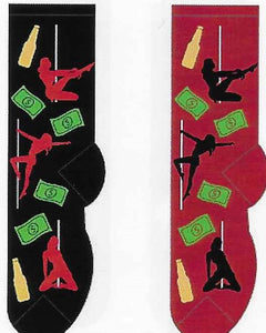 Stripper Pole Dancer Men's Socks  FM-23