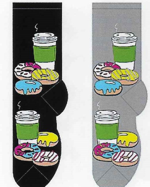 Donuts & Coffee To Go Men's Socks  FM-36