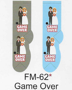 Game Over Wedding Men's Socks   FM-62