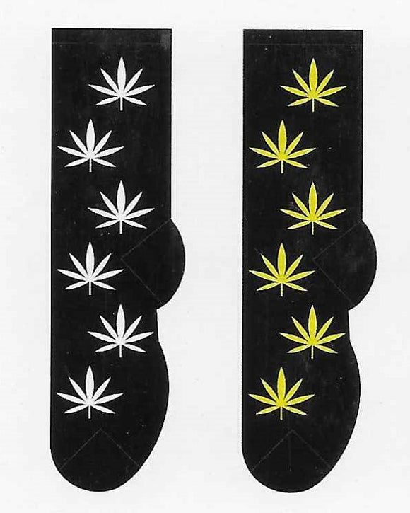 Cannabis Weed Pot Men's Socks   FM-64