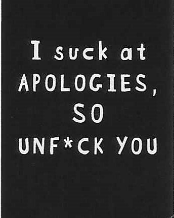 I suck at APOLOGIES, SO UNF*CK YOU    WYS-34   UNISEX