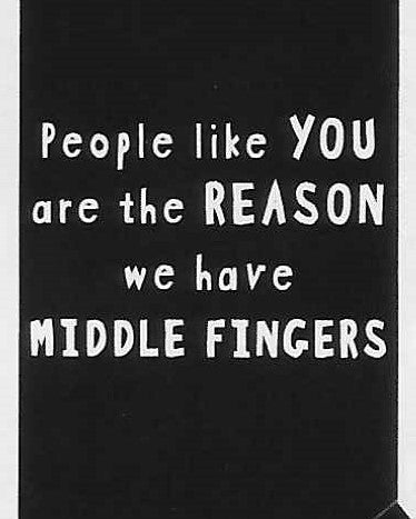 People like YOU are the REASON we have MIDDLE FINGERS    WYS-76   UNISEX
