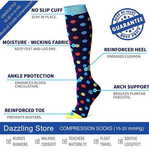 Top Armor Compression Socks (7 Pairs), 15-20 Mmhg