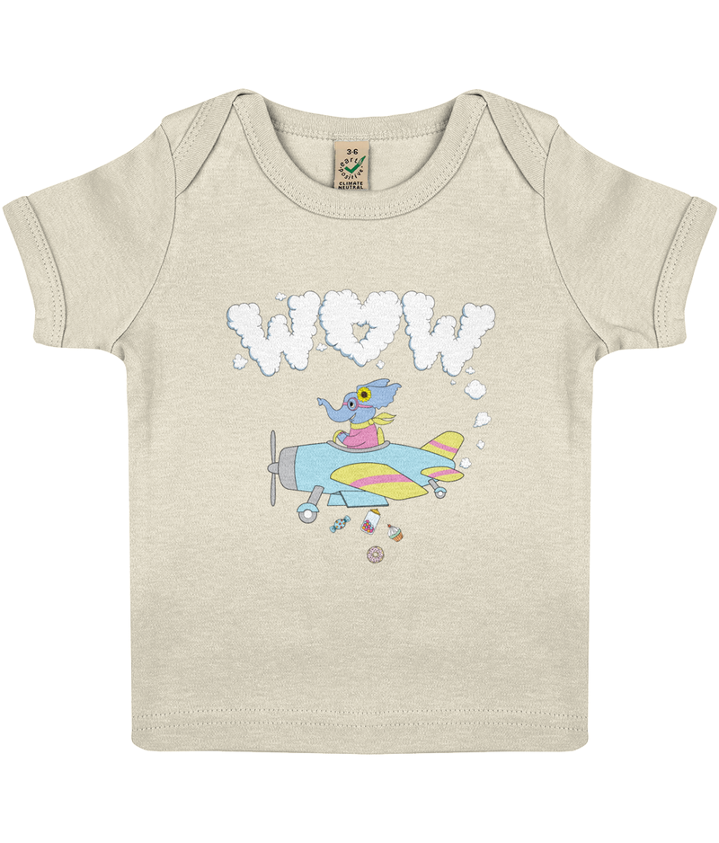 The Benevolent Elephant  Baby Lap T-Shirt